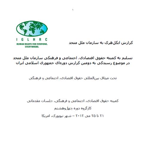 تسلیم به کمیته حقوق اقتصادی، اجتماعی و فرهنگی